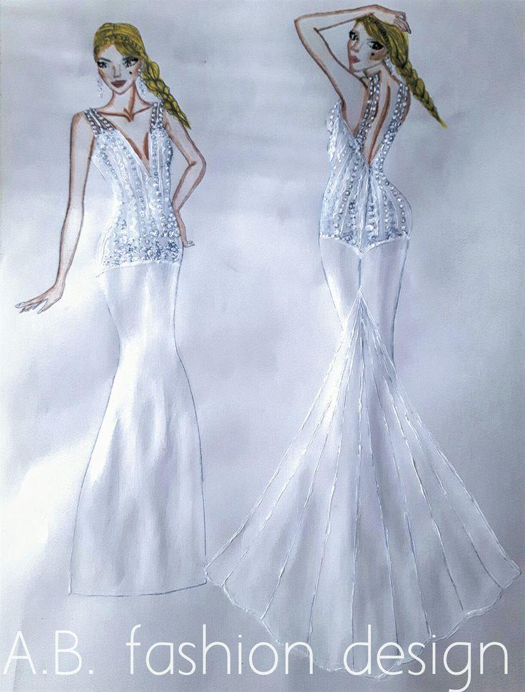 Wedding dress sketche