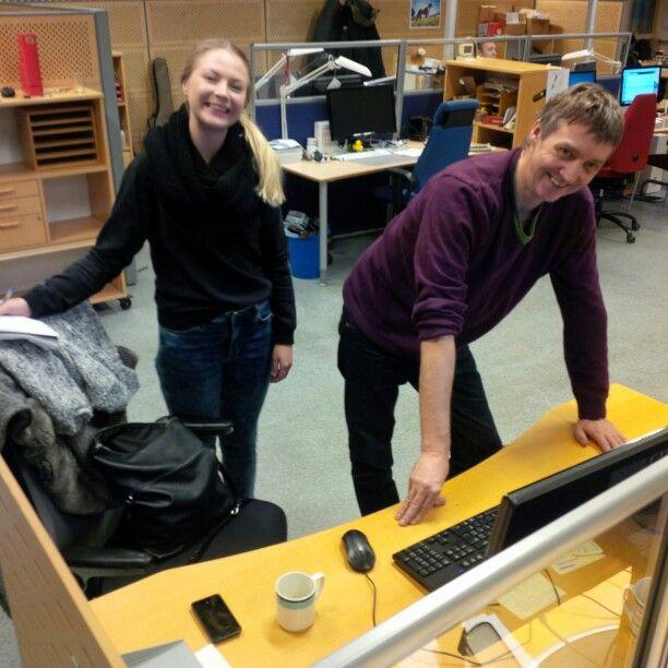 Tirsdag 7. januar hadde journalist Lena Verås Eriksen sin første dag på jobb. :-)