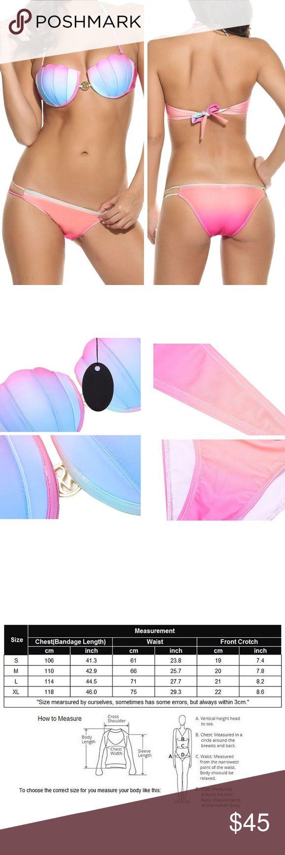 🆕Seashell Bikini Super cute seashell bikini top please see size chart before purchasing!                                                                                                              🛍Bundle and Save- 2 items 20% off, 3 items 25% off and 4 items 30% off! Ask me to change my seller discount or make me and offer 🛍 Swim Bikinis