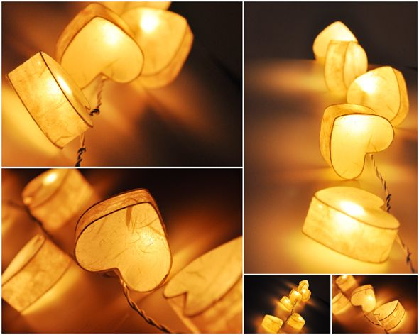 Heart String Lights ~ from Thailand String Lights.  They have great designs and the shipping isn't too bad.
