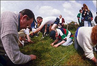 Weird Sports: Worm Charming  The rules for the game are quite simple. Contestants are provided with a patch of ground. The objective of this rather weird sport is to attract as many worms from the ground as possible. Contestants can use any method but be aware that the use of dish washing detergent is not allowed.
