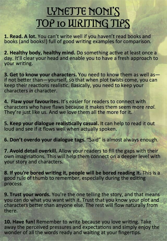 Some tips from our amazing author! 😍😍😁😁