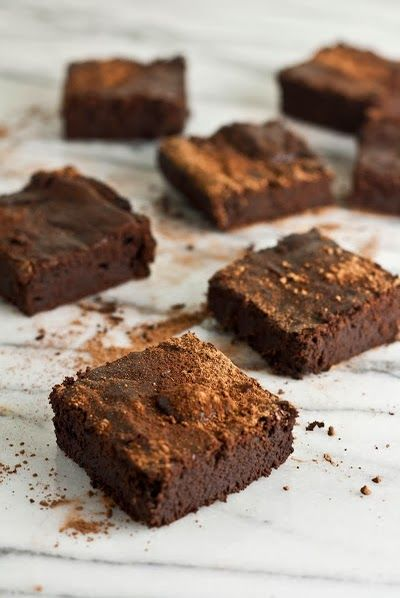 Paleo - Gluten-free - Flourless Mocha Brownies