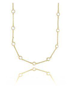 colar tiffany longo dourado semi joias