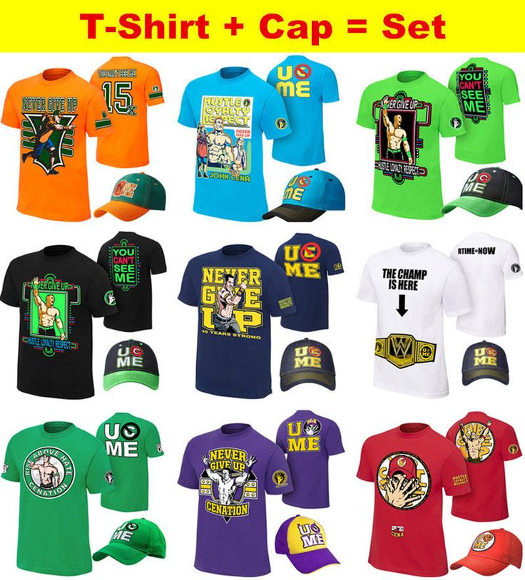john boys throwback kids costume baseball hat shirt cap set cena neon wwe