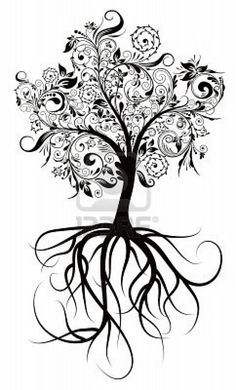 Tattoo inspirations: Pin 8960593 Dekorative Baum Wurzeln Vektor Illustrationjpg on Pinterest