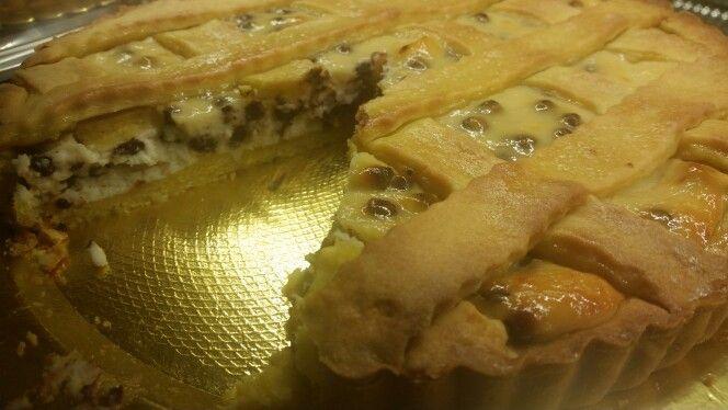 Crostata ricotta e cioccolato in gocce