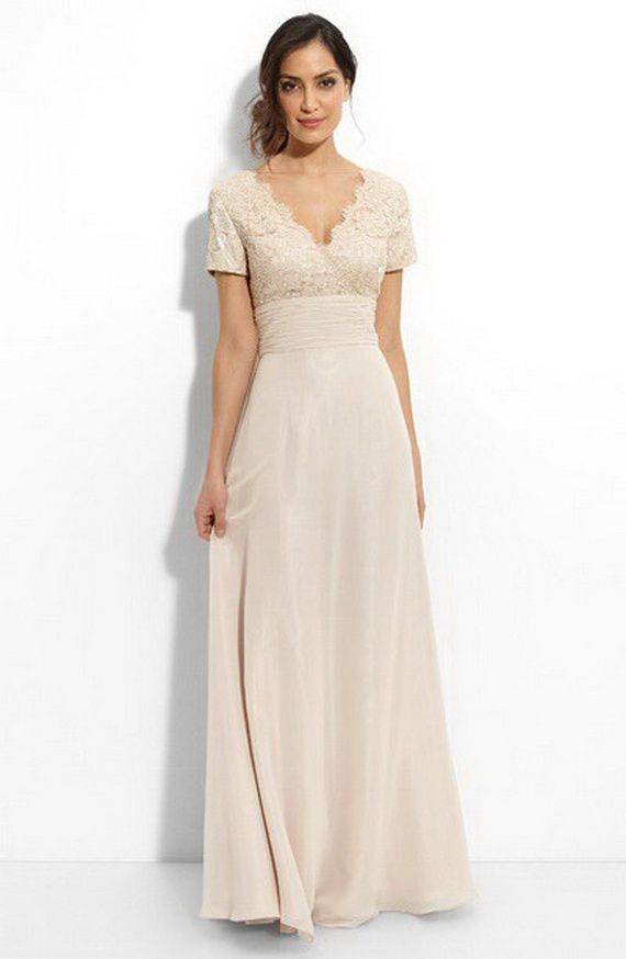 Second wedding dresses for older brides mature bride for Older brides wedding dresses