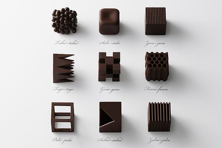 Nendo's new Chocolatexture lets you taste the meaning of Japan...
