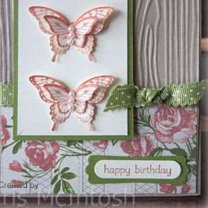 3D Butterfly Birthday Card: make your little butterfly embellishments spread their wings with this beautiful birthday card idea.