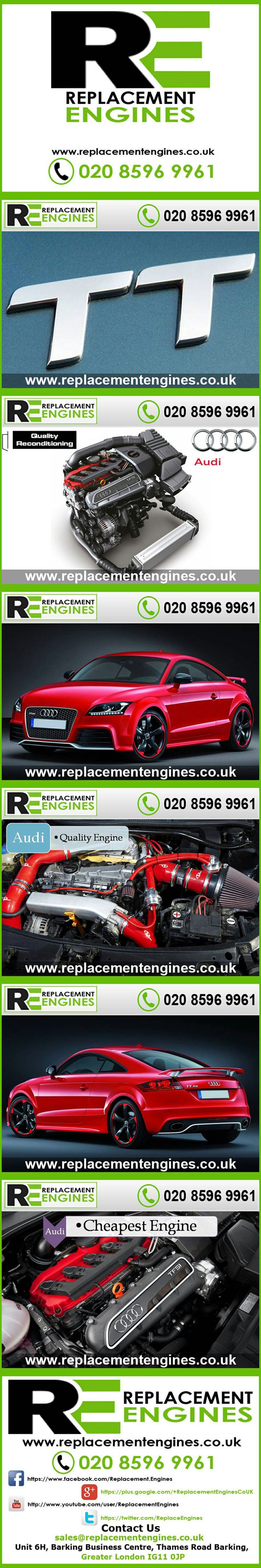 Audi TT engines for sale at the cheapest prices, we have low mileage used & reconditioned engines in stock now, ready to be delivered to anywhere in the UK or overseas, visit Replacement Engines website here.