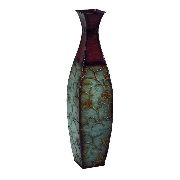 Uma Metal Vase In Brown & Teal - Beyond the Rack