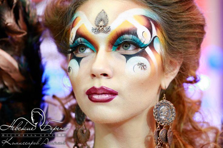 Конкурс визажистов. 2 вид. Фантазийный макияж - сентябрь 2012 | Фестиваль красоты Невские Берега