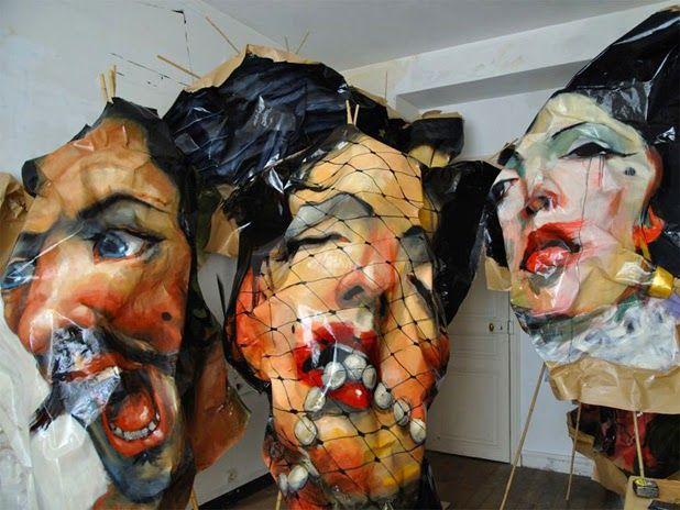 Paintings on paper by Rupert Shrive | http://ineedaguide.blogspot.com/2015/03/rupert-shrive.html | #art #paintings