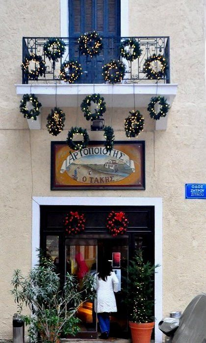 Bakery Christmas Decorations, Athens, Greece ( by RobW_)