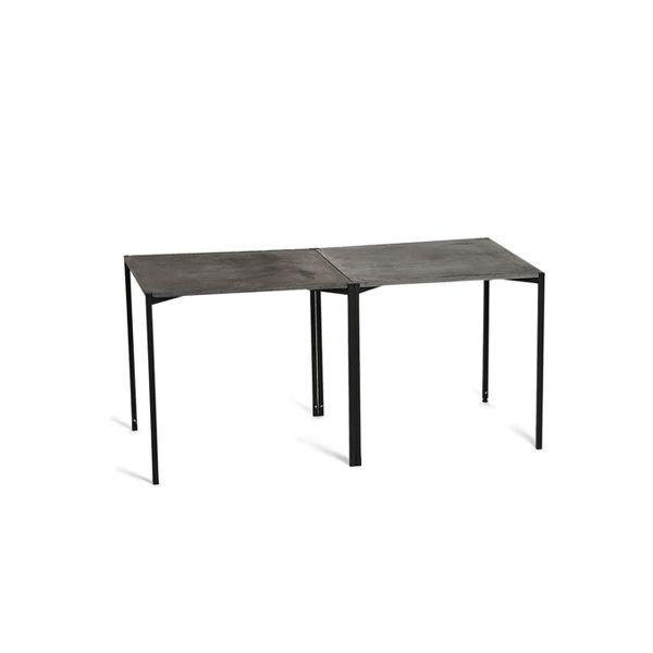 EH 6 - Dining Table. Conctrete table top and black powder painted legs. #concretetable #table #diningtable #powderpaint #danishdesign #longdiningtable