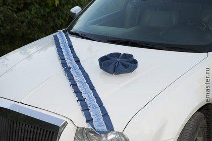 Джинсовый+декор+на+лимузин+(цветок+на+присосках+и+лента-рюша).+Декор+для+джинсовой+свадьбы.+Цветок+из+джинсовой+ткани+на+присосках+и+лента-рюша+из+двух+видов+джинсовой+ткани.+В+центре+цветка+бронзовая+пуговка++++По+желанию+могу+дополнить+комплект+другим+аксессуаром+(по+Вашему…