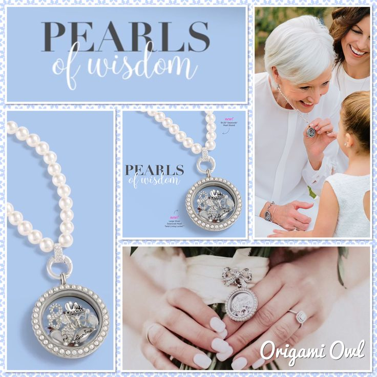 Origami Owl. Pearls of Wisdom collection, arriving 4/7/17! www.CharmingLocketsByAline.OrigamiOwl.com