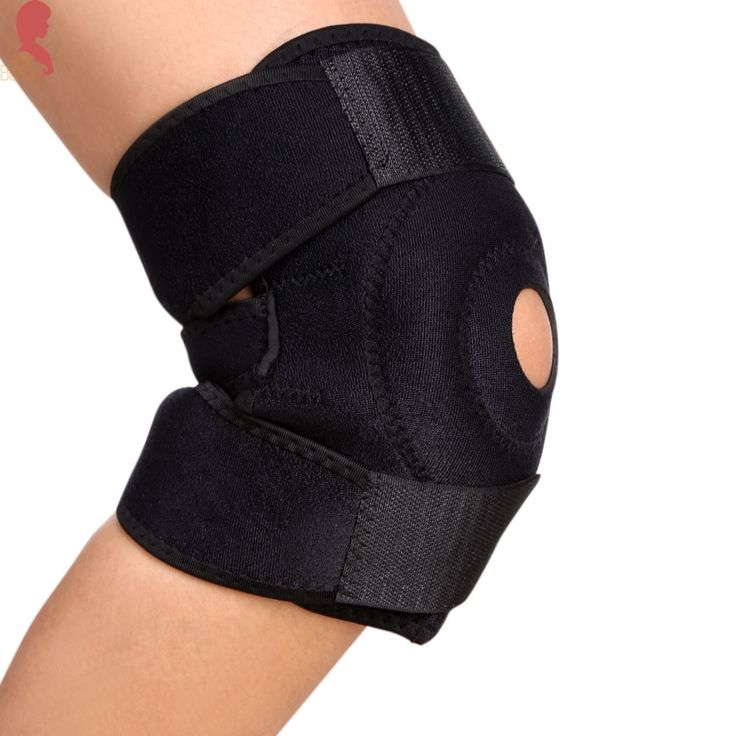 Adjustable Neoprene Elastic Open Patella Knee Brace Fastener Support Guard Protector for kinesiology knee basketball knee sleeve