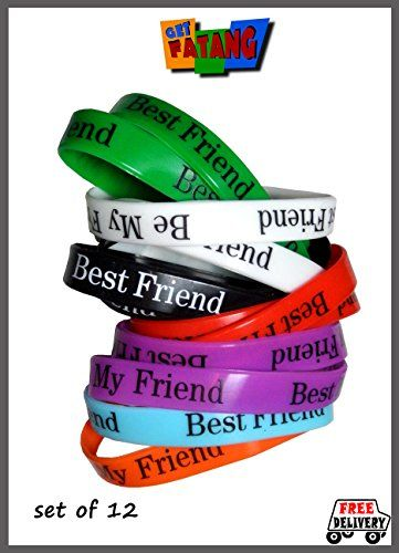 Get Fatang Friendship Day - Friendship Bands (Silicone Gel Bracelet) Pack of 12 Bands Get Fatang http://www.amazon.in/dp/B00M41ME4S/ref=cm_sw_r_pi_dp_uzq3tb1E81TXHKWB