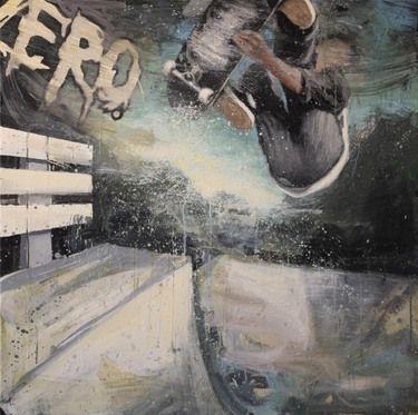 """Saatchi Art Artist Kjetil Jul; Painting, """"Street Scene 6"""" #art"""