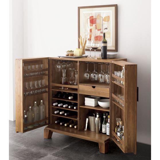 Crate And Barrel Liquor Cabinet