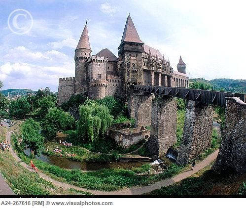 Gothic Castle. Hunedoara. Transylvania. Romania