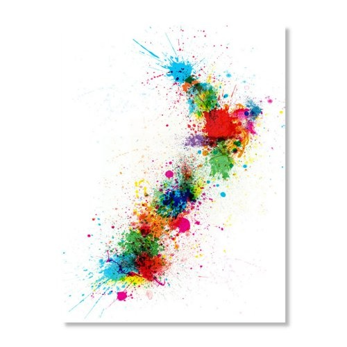 Find it at the Foundary - New Zealand Paint Splashes Map by Michael Tompsett