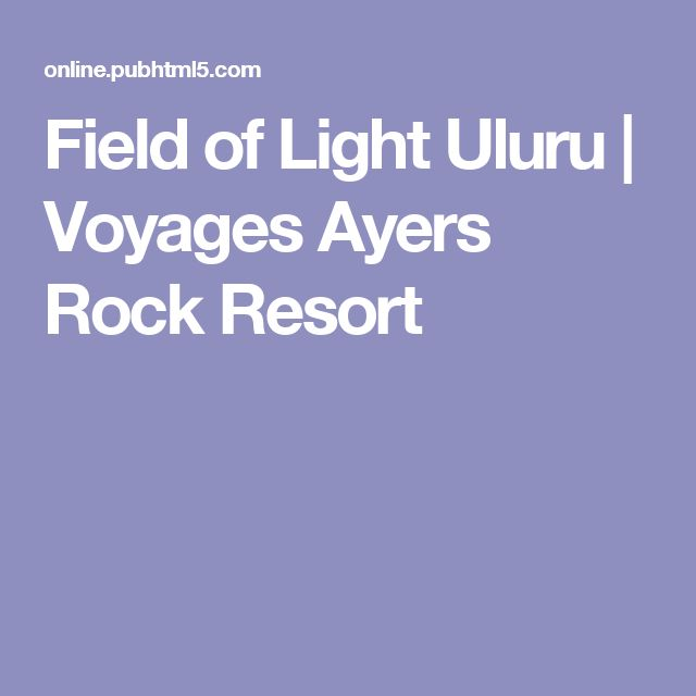 Field of Light Uluru | Voyages Ayers Rock Resort