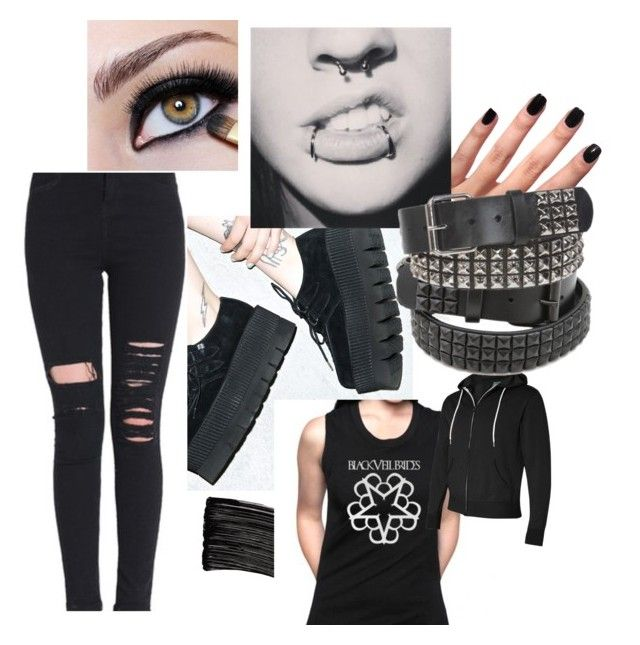 """""""Casual Goth Outfit"""" by sapphire1011 on Polyvore featuring L'Oréal Paris, T.U.K. and CO"""