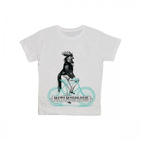 Rooster 100% slub cotton T-sirt for man.  Printed in Italy