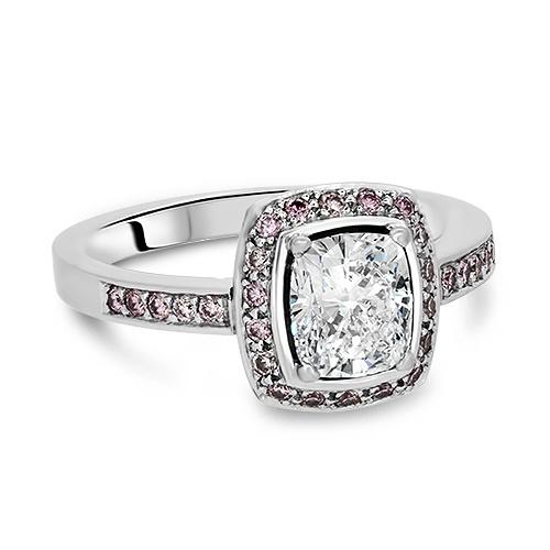 Platinum 1.22ct White And Pink Diamond Ring