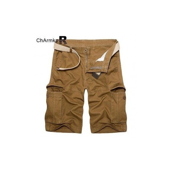 ChArmkpR Mens Plus Size Multicolor Big Pockets Loose Casual Cargo... ($31) ❤ liked on Polyvore featuring men's fashion, men's clothing, men's shorts, men pants & shorts, yellow brown, mens cotton shorts, plus size mens clothing, mens yellow shorts, mens clothing and mens plus size board shorts