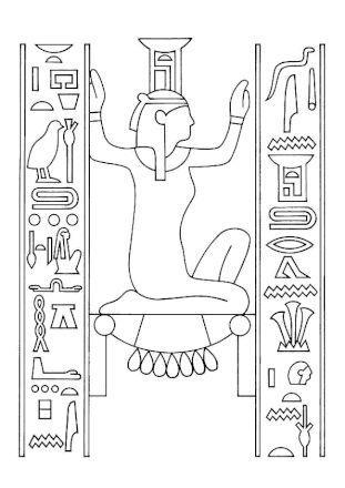 Coloriage egypte hieroglyphe   Coloriage, Dessin égyptien et