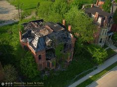 The Abandoned, Tumbledown Mansions of Brush Park – from Above