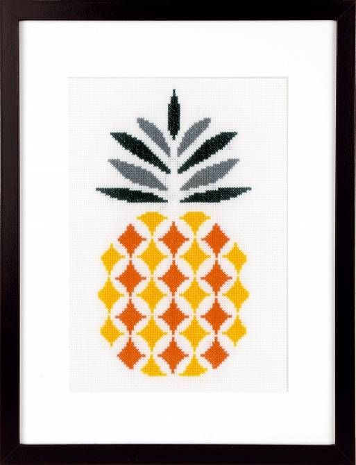 Pineapple Cross Stitch Kit £18.80 | Past Impressions | Vervaco