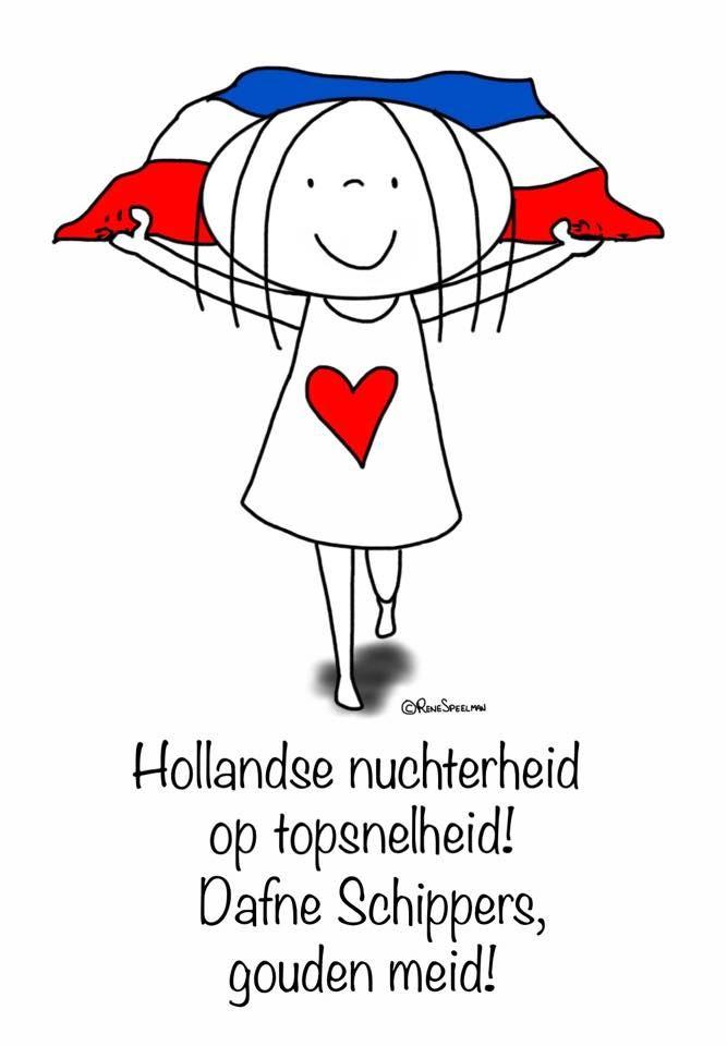 """""""Hollandse nuchterheid op topsnelheid! Daphne Schippers, gouden meid!"""" - Jabbertje"""