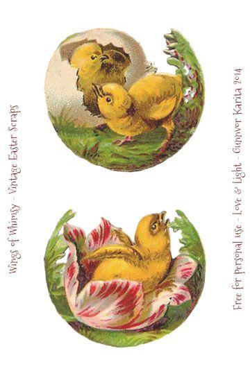 Wings of Whimsy: Pasen Scraps - gratis VOOR Persoonlijk use of # vintage # efemere # printbare # freebie # pasen