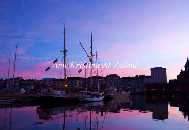 Ann-Kristina Al-Zalimi, ilta, sininen hetki, helsinki, finland, katajanokka, purjeveneet