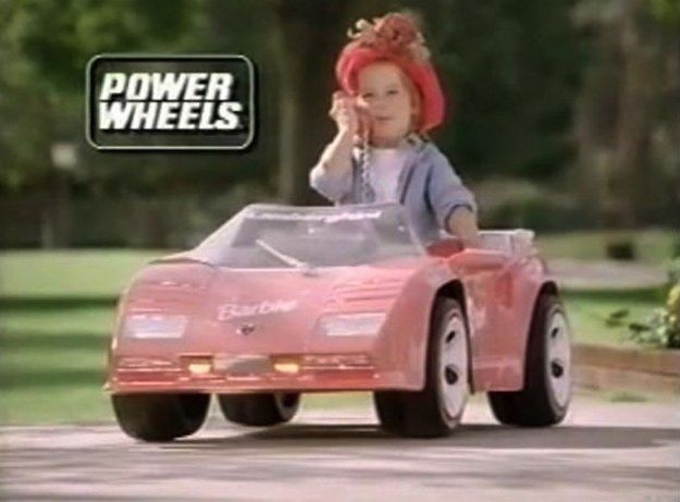 Barbie Power Wheels Corvette | 45 Awesome Toys Every '90s Girl Wanted For Christmas