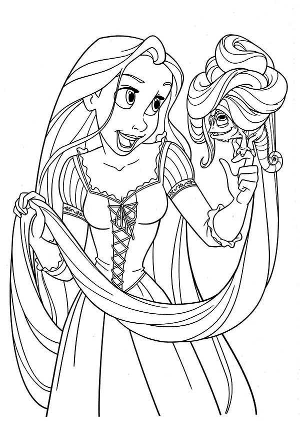 Rapunzel cotton candy tangled coloring page coloring for Disney princess rapunzel coloring pages