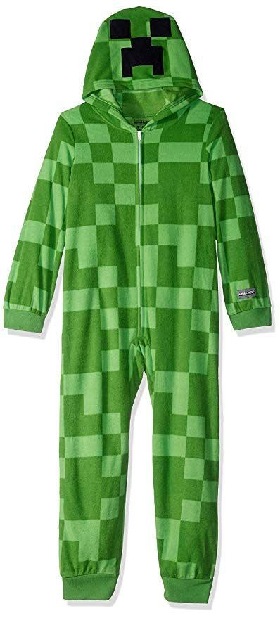 dfdf3df5 Minecraft Boys' Little Creeper Hooded Blanket Sleeper, Creeping, 8 ...