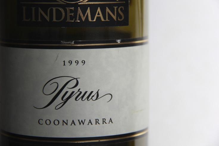 Wine label- Lindemans, Coonawarra, NSW, Australia.  1999 Pyrus Shiraz