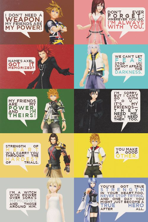 Quotes from Kingdom Hearts
