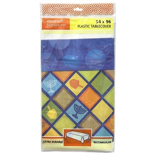 "54"" X 96"" Illumination Rectangular Plastic Table Cover 72-Packs - 72 Units"