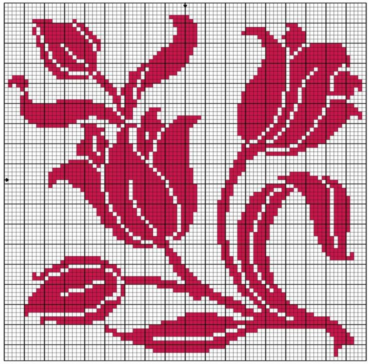 Cross stitch pattern. Contemporary.