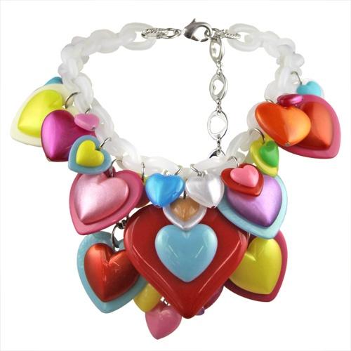 """Kaleidoscope Hearts """"Sweet Bippy"""" Necklace by Tarina Tarantino"""
