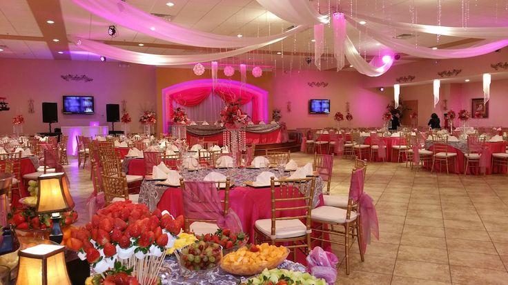 Quinceanera Hall Decorations Pink perlas receptio...