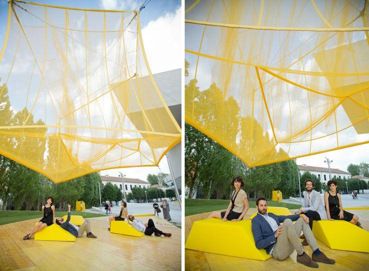 L'installazione di bam! al MAXXI. Photo Musacchio Ianniello, courtesy Fondazione MAXXI, Roma #summerpavilion