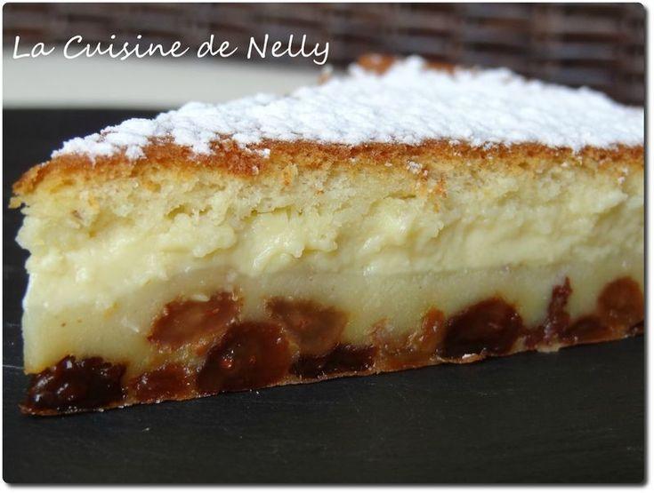 Gâteau Magique Coco-Raisins macérés